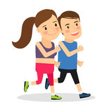 Young fitness runners Royalty Free Stock Photo