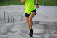Young fitness sports woman running Stock Photos