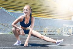 Young fitness sporty runner woman Royalty Free Stock Photography