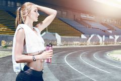 Young fitness sporty runner woman Stock Photo