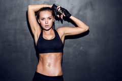 Young fitness woman Royalty Free Stock Images