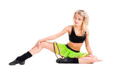 Young fitness woman doing exercise Royalty Free Stock Image