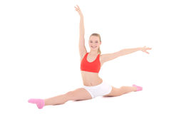 Young fitness woman doing stretching exercise Royalty Free Stock Image
