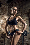Young fitness woman in gym Royalty Free Stock Photography
