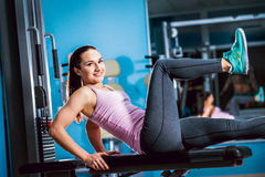 The young fitness woman Stock Image