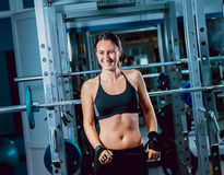 The young fitness woman Stock Photography