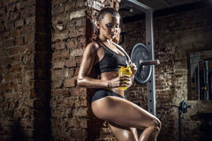 Young fitness woman in gym Royalty Free Stock Photo