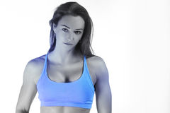 Young fitness woman. Image of an attractive fitness woman, trained female body Stock Photo