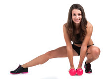 Young fitness woman isolated Stock Photography