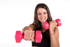 Young fitness woman isolated Royalty Free Stock Photography
