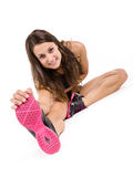 Young fitness woman isolated Royalty Free Stock Photos