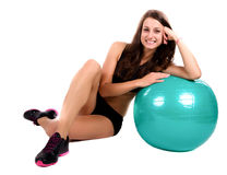 Young fitness woman isolated Royalty Free Stock Image