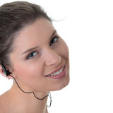 Young fitness woman with sport headphones Stock Photography