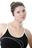 Young fitness woman with sport headphones Royalty Free Stock Photos