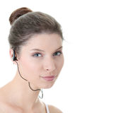 Young fitness woman with sport headphones Royalty Free Stock Image