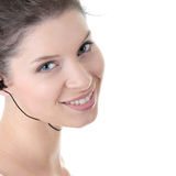 Young fitness woman with sport headphones Royalty Free Stock Images