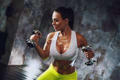 Young fitness woman Royalty Free Stock Photos