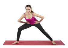 Young fitness woman working out Royalty Free Stock Images