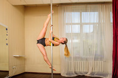 Young flexible attractive gymnast girl Stock Images