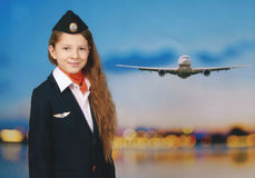 Young flight attendant Stock Photography
