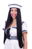 Young flight attendant Royalty Free Stock Image