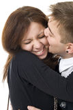 The young flirting couple Royalty Free Stock Photo