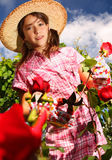 Young florist stock images