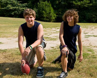 Young football athletes Stock Images