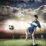 Young football champion Royalty Free Stock Photo