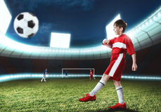 Young football champion Royalty Free Stock Photos