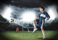 Young football champion Stock Photography