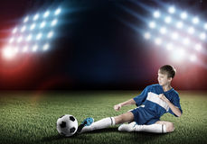 Young football champion Stock Images