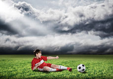 Young football champion Royalty Free Stock Photos