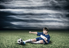 Young football champion Royalty Free Stock Photography