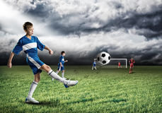 Young football champion Stock Photos