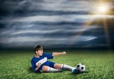 Young football champion Stock Photo