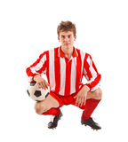 Young football player Stock Images