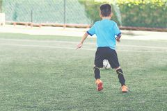 Young football player. Royalty Free Stock Photography