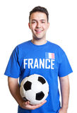 Young football player from France Stock Photos