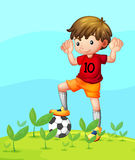 A young football player Stock Photography