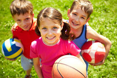 Young football players Royalty Free Stock Photography