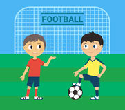 Young Football Players Royalty Free Stock Photo