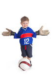 Young footballer Royalty Free Stock Photos