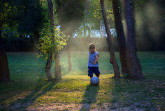 Young Footballer Stock Photo