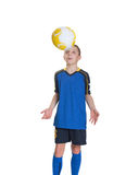 Young footballer. Royalty Free Stock Photo