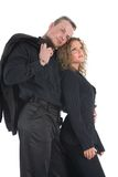 Young formal couple. A young couple in black formal dress Royalty Free Stock Image