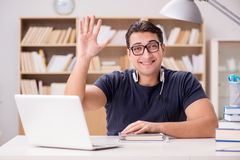 The young freelance worked working on computer. Young freelance worked working on computer Stock Photo