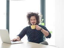 Freelancer working from home Stock Photo