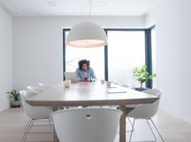 Freelancer working from home Royalty Free Stock Images