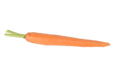Young fresh carrots without leaves isolated on white background Royalty Free Stock Images